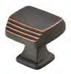 Oil Rubbed Bronze (US10B) Brass Art Deco Cabinet Knob - Brass Collection by Emtek