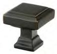 Oil Rubbed Bronze (US10B) Brass Geometric Square Cabinet Knob - Brass Collection by Emtek