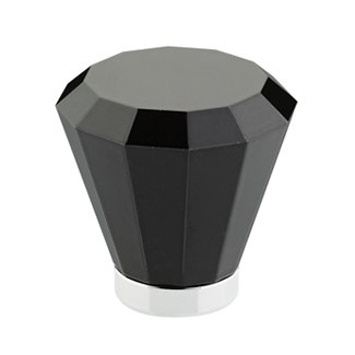 Black Brookmont Cabinet Knob - Crystal Collection by Emtek