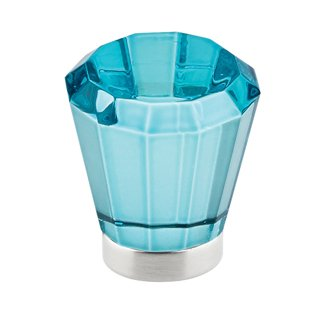 Cyan Brookmont Cabinet Knob - Crystal Collection by Emtek