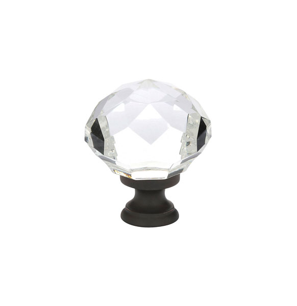 Clear Diamond Wardrobe Knob - Crystal Collection by Emtek