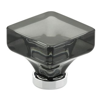 Smoke Lido Cabinet Knob - Crystal Collection by Emtek