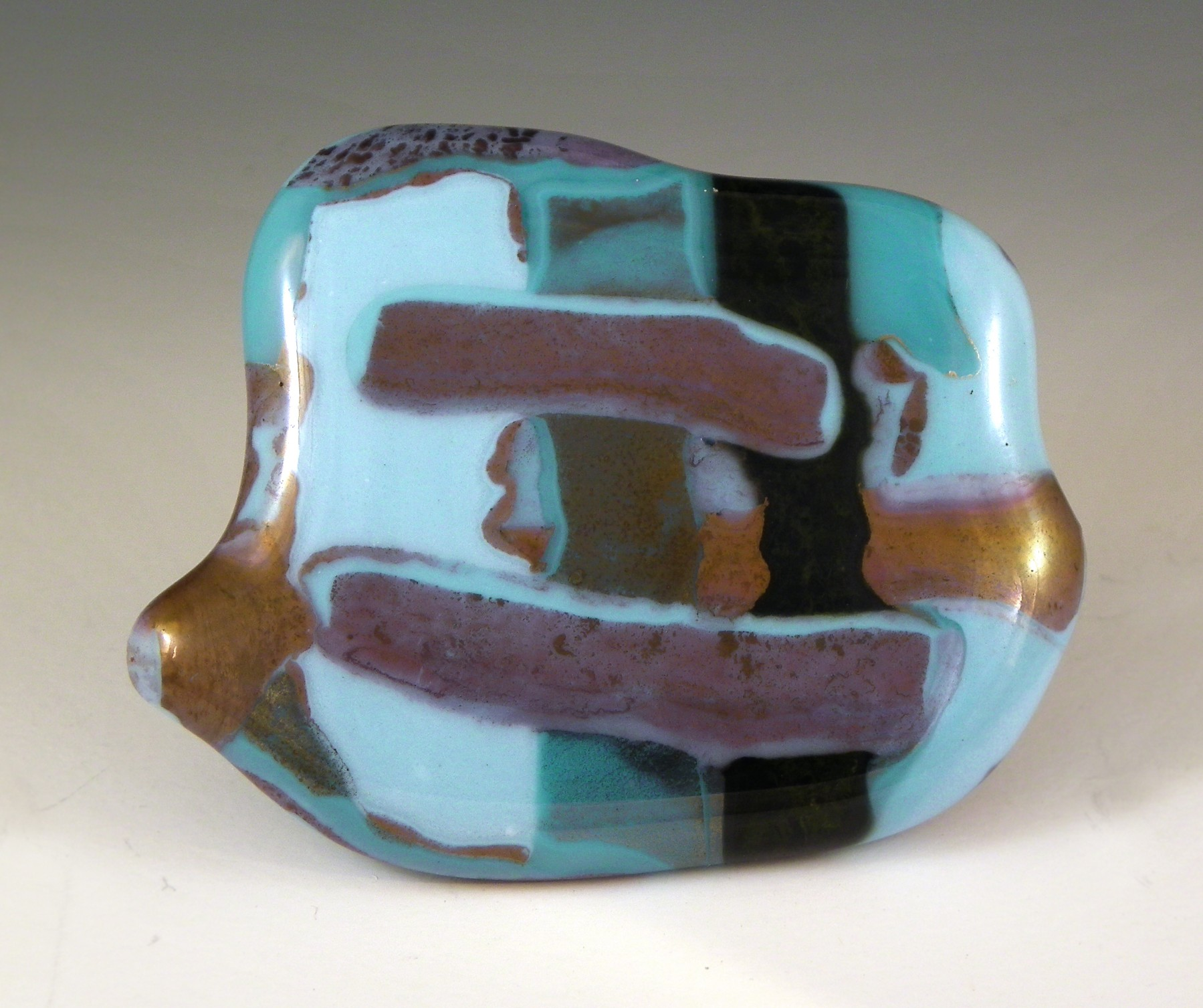 Grace White Glass Turquoise Melts