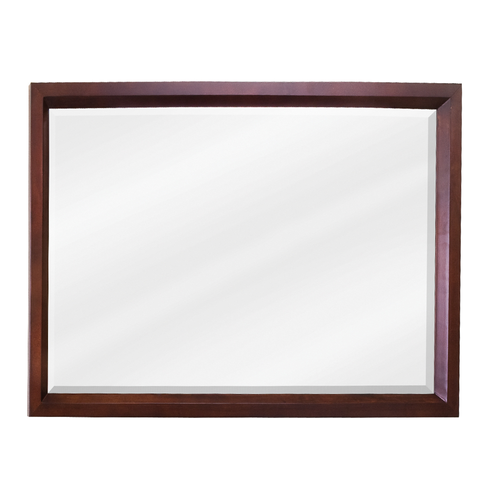 (click image to view larger image) Mahogany Modern Mirror