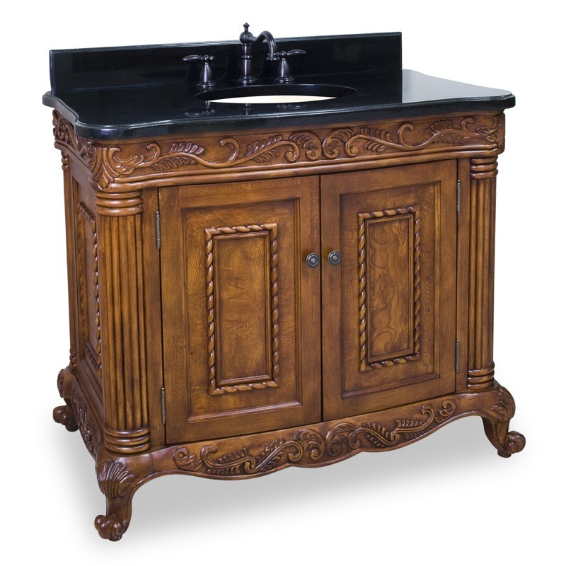 (click image to view larger image) Burled Ornate Vanity