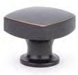 Oil Rubbed Bronze (US10B) Freestone Cabinet Knob - Modern Collection by Emtek