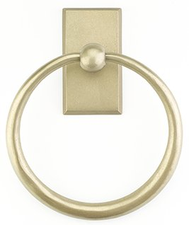 Bronze Towel Ring w/ Type 1 Rosette - Sandcast Bronze Collection by Emtek