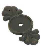 Medium Bronze (MB) Knob Back Plate - Tuscany Bronze Collection by Emtek