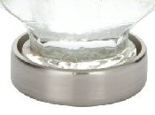 Satin Nickel (US15) Forza Cabinet Knob - Crystal Collection by Emtek