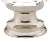 Polished Nickel (US14) Clear Diamond Cabinet Knob - Crystal Collection by Emtek