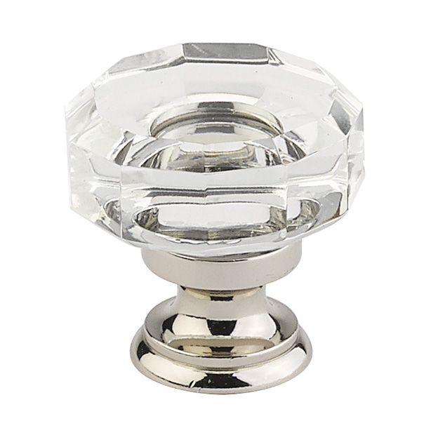 Lowell Crystal Cabinet Knob - Crystal Collection by Emtek