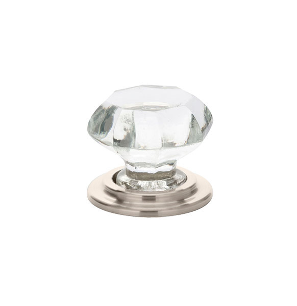 Clear Old Town Wardrobe Knob - Crystal Collection by Emtek