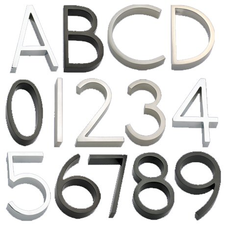 House Numbers & Letters from the Accessories Collection by Linnea