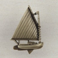 Catboat Cabinet Knob - Antique Brass (DP1AP) by Acorn