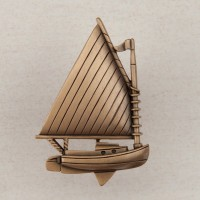 Catboat Cabinet Knob - Museum Gold (DP1GP) by Acorn