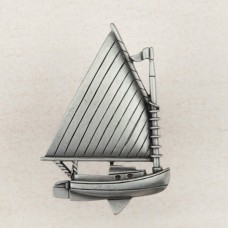 Catboat Cabinet Knob - Antique Pewter (DP1PP) by Acorn