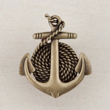 Anchor/Rope Cabinet Knob - Antique Brass (DP2AP) by Acorn