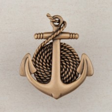 Anchor/Rope Cabinet Knob - Museum Gold (DP2GP) by Acorn