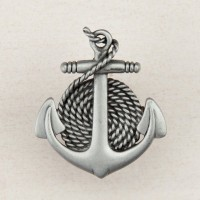 Anchor/Rope Cabinet Knob - Antique Pewter (DP2PP) by Acorn