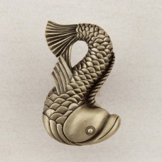 Dolphin Cabinet Knob - Antique Brass (DP5AP) by Acorn