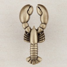 Lobster Cabinet Knob - Antique Brass (DP8AP) by Acorn