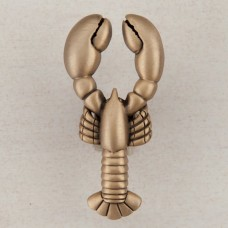 Lobster Cabinet Knob - Museum Gold (DP8GP) by Acorn