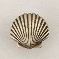 Small Scallop Cabinet Knob - Antique Brass (DPAAP) by Acorn