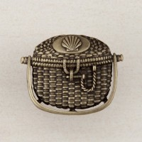 Nantucket Basket Cabinet Knob - Antique Brass (DPBAP) by Acorn