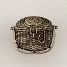 Nantucket Basket Cabinet Knob - Antique Brass (DPBAP) by Acorn