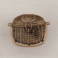 Nantucket Basket Cabinet Knob - Museum Gold (DPBGP) by Acorn