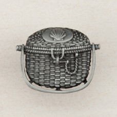 Nantucket Basket Cabinet Knob - Antique Pewter (DPBPP) by Acorn
