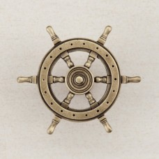 Ship's Wheel Cabinet Knob - Antique Brass (DPCAP) by Acorn