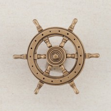 Ship's Wheel Cabinet Knob - Museum Gold (DPCGP) by Acorn