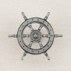 Ship's Wheel Cabinet Knob - Antique Pewter (DPCPP) by Acorn