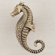 Seahorse Cabinet Knob - Antique Brass (DPEAP) by Acorn