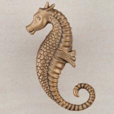 Seahorse Cabinet Knob - Museum Gold (DPEGP) by Acorn
