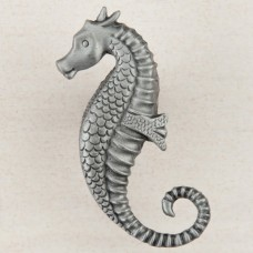 Seahorse Cabinet Knob - Antique Pewter (DPEPP) by Acorn