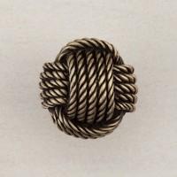Monkey's Fist Knot Cabinet Knob - Antique Brass (DPFAP) by Acorn