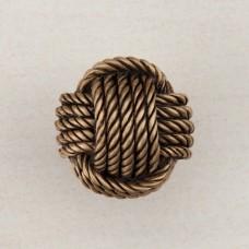 Monkey's Fist Knot Cabinet Knob - Museum Gold (DPFGP) by Acorn