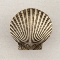Large Scallop Cabinet Knob - Antique Brass (DPGAP) by Acorn
