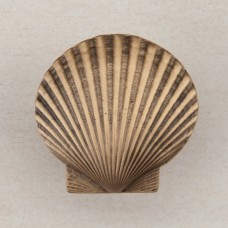 Large Scallop Cabinet Knob - Museum Gold (DPGGP) by Acorn