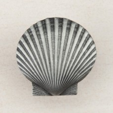 Large Scallop Cabinet Knob - Antique Pewter (DPGPP) by Acorn