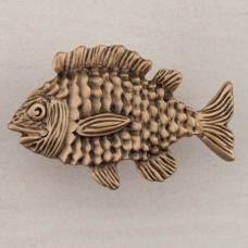 Fun Fish Cabinet Knob - Museum Gold (DPLGP) by Acorn
