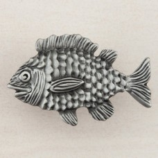 Fun Fish Cabinet Knob - Antique Pewter (DPLPP) by Acorn