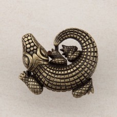 Alligator Cabinet Knob - Antique Brass (DPMAP) by Acorn