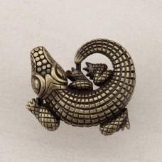 Alligator Cabinet Knob - Antique Brass (DPMAP) by Acorn