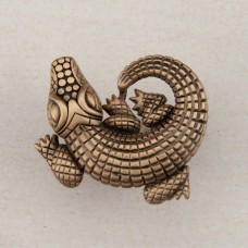 Alligator Cabinet Knob - Museum Gold (DPMGP) by Acorn