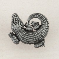 Alligator Cabinet Knob - Antique Pewter (DPMPP) by Acorn