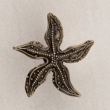 Beaded Starfish Cabinet Knob - Antique Brass (DPNAP) by Acorn