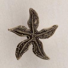 Beaded Starfish Cabinet Knob - Antique Brass (DPNAP) by Acorn